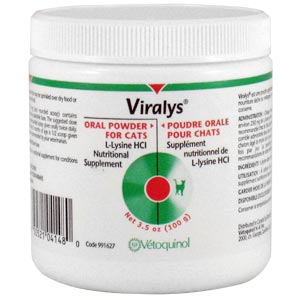 Viralys Oral Powder for Cats, 100 gm (L-Lysine)