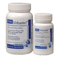 Virbantel Chewable Tablets for Medium/Large Dogs, One Tablet