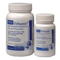 Virbantel Chewable Tablets for Small Dogs and Puppies, Each Tablet