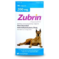 Zubrin (tepoxalin) 200 mg, 90 Tablets