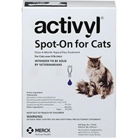 Activyl Spot-On for Cats and Kittens, over 9 lbs 6 Month Supply  Activyl, Spot-On, Cats, Kittens, over 9 lbs, 6 Month Supply