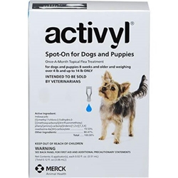 Activyl Spot-On for Dogs and Puppies, Over 4 lbs - 14 lbs 6 Month Supply Activyl, Spot-On, Dogs, Puppies, Over 4 lbs -14 lbs, 6 Month Supply