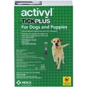 Activyl Tick Plus for Dogs and Puppies, Over 44 lbs - 88 lbs 6 Month Supply Activyl, Tick Plus, Dogs, Puppies, Over 44 lbs-88 lbs, 6 Month Supply