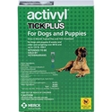 Activyl Tick Plus for Dogs and Puppies, Over 88 lbs - 132 lbs 6 Month Supply Activyl, Tick Plus, Dogs, Puppies, Over 88 lbs-132 lbs, 6 Month Supply