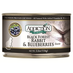 Addiction Cat Food Black Forest Rabbit & Blueberries, 5 oz - 24 Pack