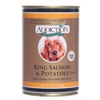 Addiction Dog Food King Salmon & Potatoes, 13.8 oz - 24 Pack