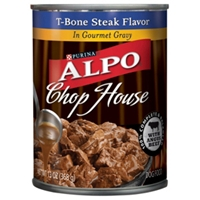 Alpo Chop House T-Bone Steak, 13.2 oz - 24 Pack