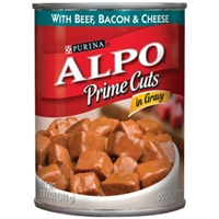 Alpo Prime Cuts with Beef, Bacon & Cheese in Gravy, 13.2 oz - 24 Pack