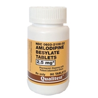 Amlodipine Besylate 2.5 mg, 90 Tablets | VetDepot.com