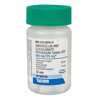 Amoxicillin 500 mg Clavulanate Potassium 125 mg, 210 Tablets