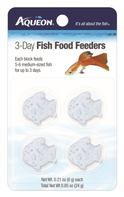 Aqueon 7-Day Betta Vacation Food Feeder, 12 g, 4 Pack