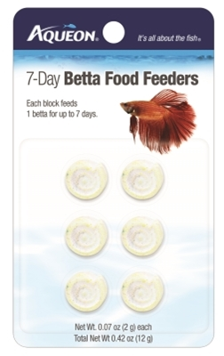 Aqueon 7-Day Betta Vacation Food Feeder, 12 g, 6 Pack