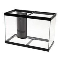 Aqueon Aquarium with MegaFlow Overflow System Black Trim, 65 gal