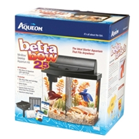 Aqueon Betta Bow Aquarium Kit Black, 2.5 gal