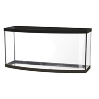 Aqueon Bowfront Aquarium Black Trim, 72 gal