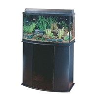 Aqueon Bowfront Aquarium Black Trim, 90 gal