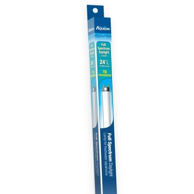 Aqueon Full Spectrum Daylight T8 Fluorescent Lamp, 17 Watt, 24 in