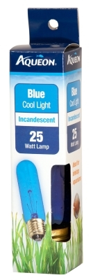 Aqueon Incandescent Aquarium Lamp Bulb, Blue, 25 Watt