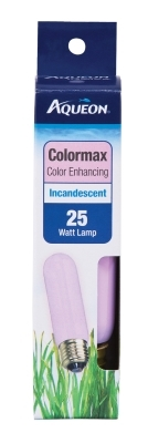 Aqueon Incandescent Aquarium Lamp Bulb, Colormax, 25 Watt