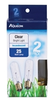 Aqueon Incandescent Aquarium Lamp Bulbs, Clear, 25 Watt, 2 Pack