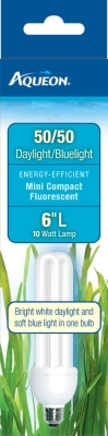 Aqueon Mini Compact Fluorescent 50/50 Bulb, 10 Watt, 6 in