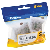 Aqueon Replacement Filter Cartridge, Small, 6 Pack