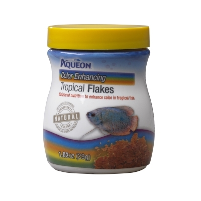 Aqueon Tropical Color Enhancing Flakes, 1.02 oz