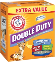 Arm & Hammer Double Duty Cat Litter, 40 lbs