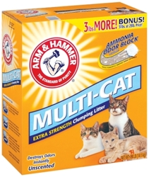 Arm & Hammer Multi-Cat Unscented Litter, 31 lbs
