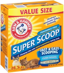 Arm & Hammer Super Scoop Unscented Cat Litter, 26.3 lbs
