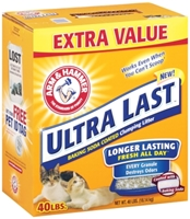 Arm & Hammer Ultra Last Clumping Cat Litter, 40 lbs
