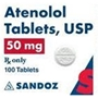 Atenolol 50 mg, 100 Tablets
