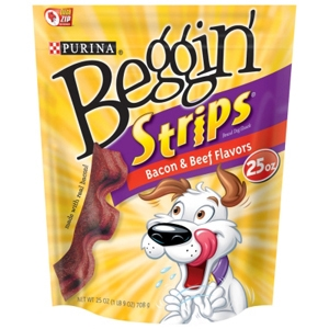 Beggin' Strips Bacon & Beef Flavor, 25 oz - 4 Pack
