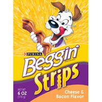 Beggin Strips Bacon & Cheese Flavor, 6 oz - 10 Pack