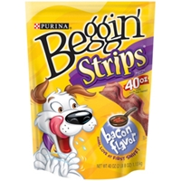 Beggin Strips Bacon Flavor, 2.5 lb - 4 Pack