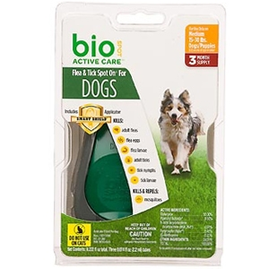 Bio Spot Active Care Flea & Tick Spot On for Dogs 15-30 lbs, 3 Pack