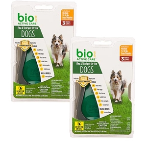 Bio Spot Active Care Flea & Tick Spot On for Dogs 15-30 lbs, 6 Pack