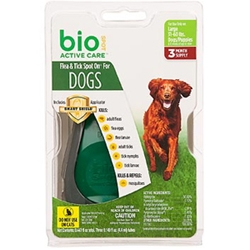 Bio Spot Active Care Flea & Tick Spot On for Dogs 31-60 lbs, 3 Pack | VetDepot.com