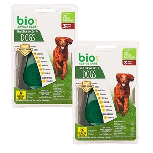 Bio Spot Active Care Flea & Tick Spot On for Dogs 31-60 lbs, 6 Pack