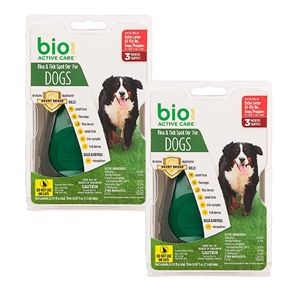 Bio Spot Active Care Flea & Tick Spot On for Dogs 61-150 lbs, 6 Pack