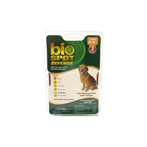 Bio Spot Defense Flea & Tick Spot On for Dogs 56-80 lbs, 3 Pack