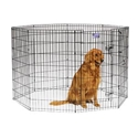"Black E-Coat Exercise Pen, 42"" x 24"""