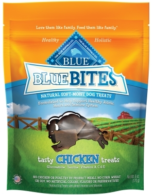 Blue Buffalo Blue Bites Natural Dog Treats, Chicken, 6 oz