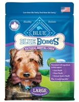 Blue Buffalo Blue Bones Natural Dog Treats, Large, 12 oz