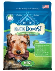 Blue Buffalo Blue Bones Natural Dog Treats, Mini, 12 oz