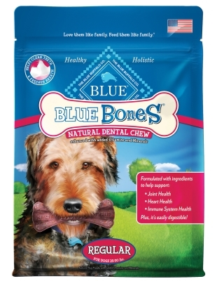 Blue Buffalo Blue Bones Natural Dog Treats, Regular, 12 oz