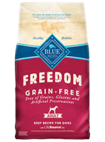Blue Buffalo Blue Freedom Dry Dog Food, Beef, 24 lbs