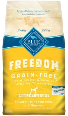 Blue Buffalo Blue Freedom Dry Dog Food Healthy Weight Recipe, Chicken, 24 lbs