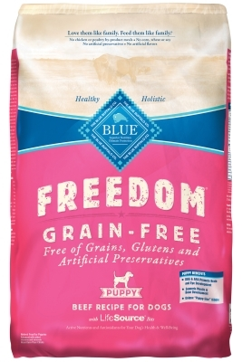 Blue Buffalo Blue Freedom Dry Dog Food Puppy Recipe, Beef, 24 lbs