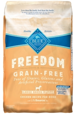 Blue Buffalo Blue Freedom Dry Dog Food Puppy Recipe, Chicken, 24 lbs